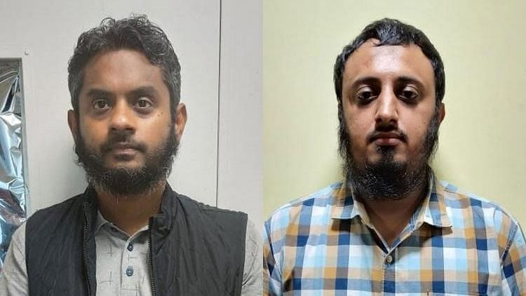 NIA arrests two men who allegedly funded radicals to go to Syria.