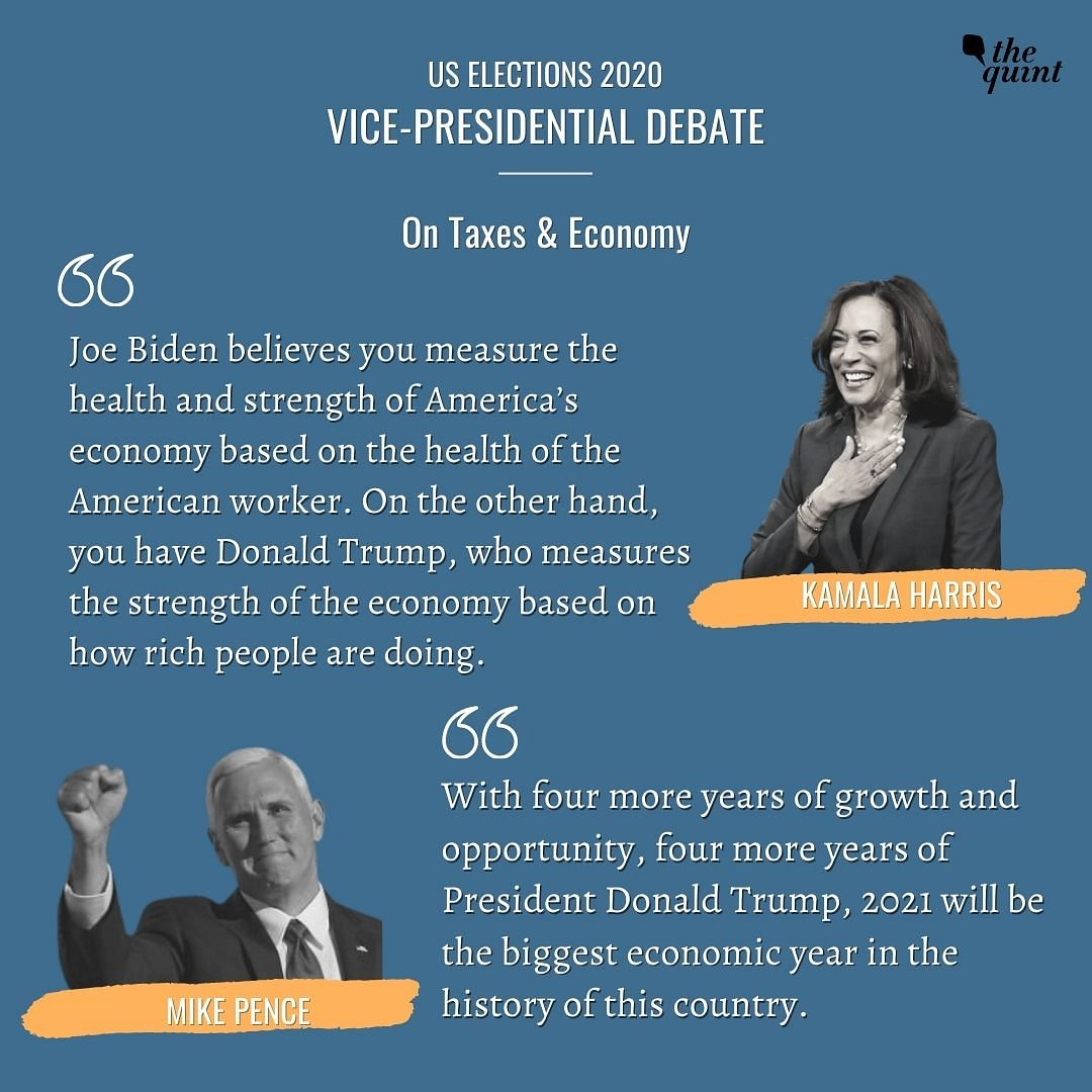 Kamala Harris, Mike Pence Clash Over COVID, Economy at VP Debate