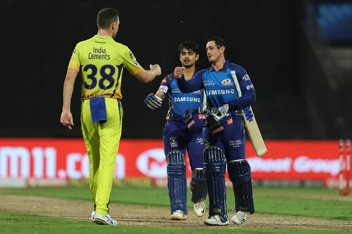 Ishan Kishan and Quinton de Kock stitched an unbeaten 116-run opening stand.
