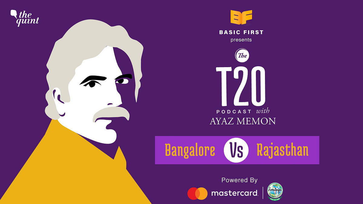 On episode 15 of The T20 Podcast, Ayaz Memon and I talk about Rajasthan's 8 wicket loss to Virat Kohli's Bangalore.