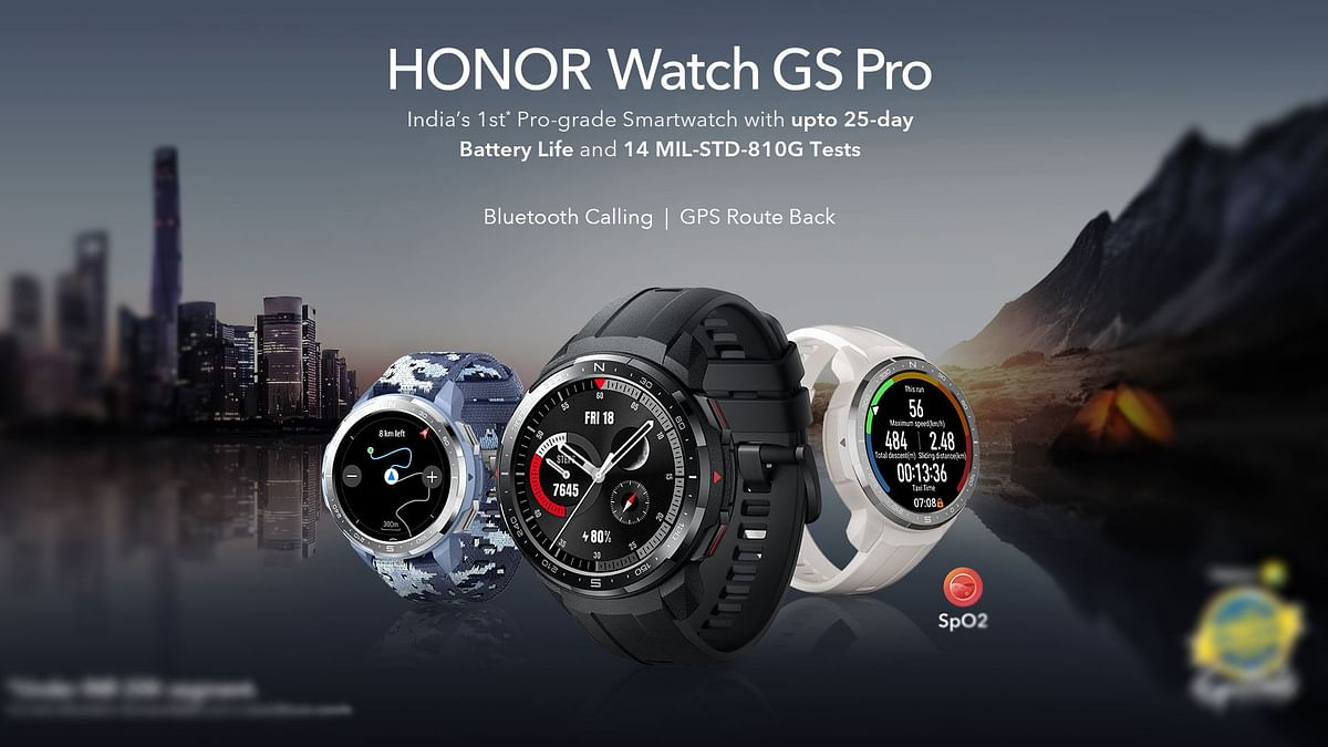 The honor Watch GS Pro is touted to offer 25 days of battery life.
