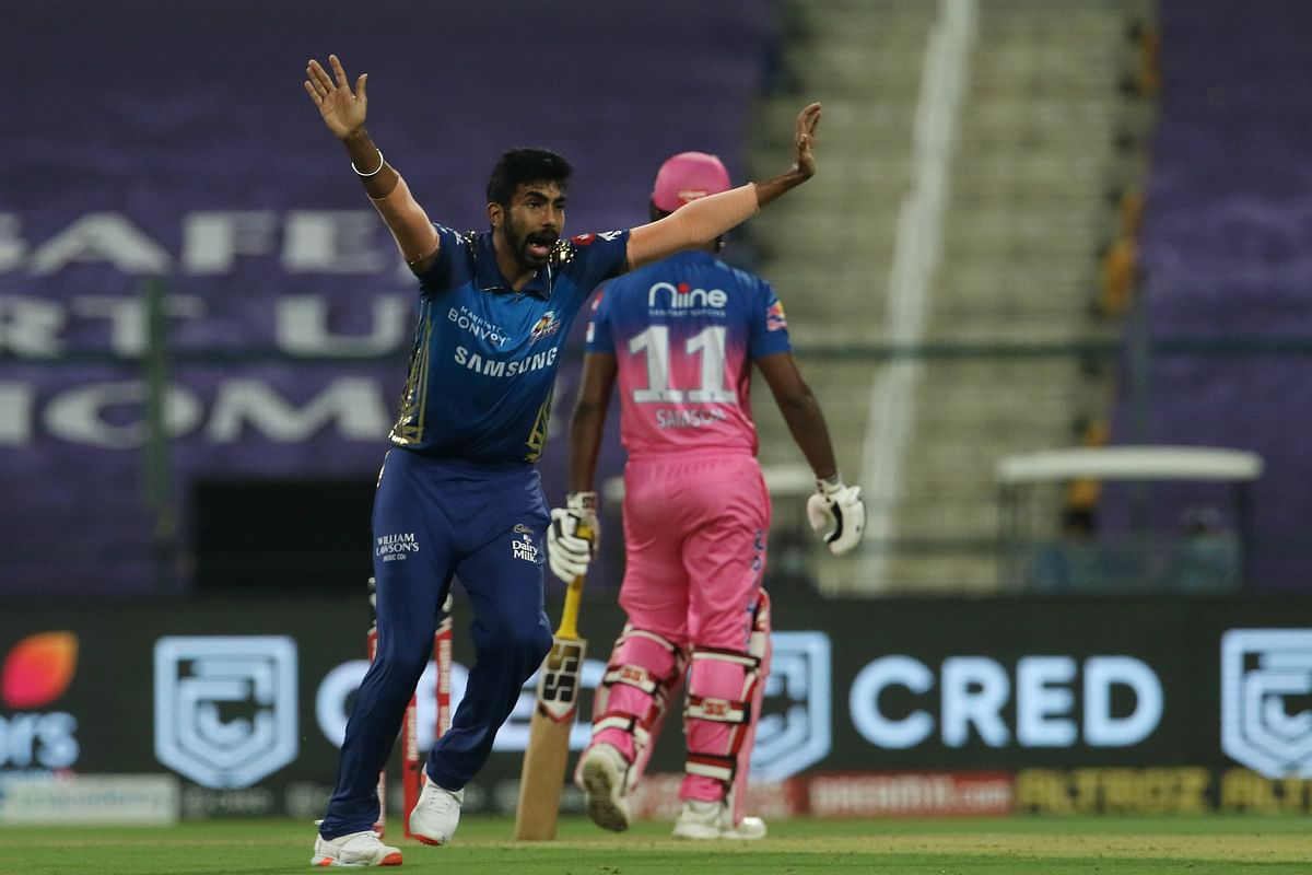 Jasprit Bumrah finished his four overs with 4/20 – the best figures this season.