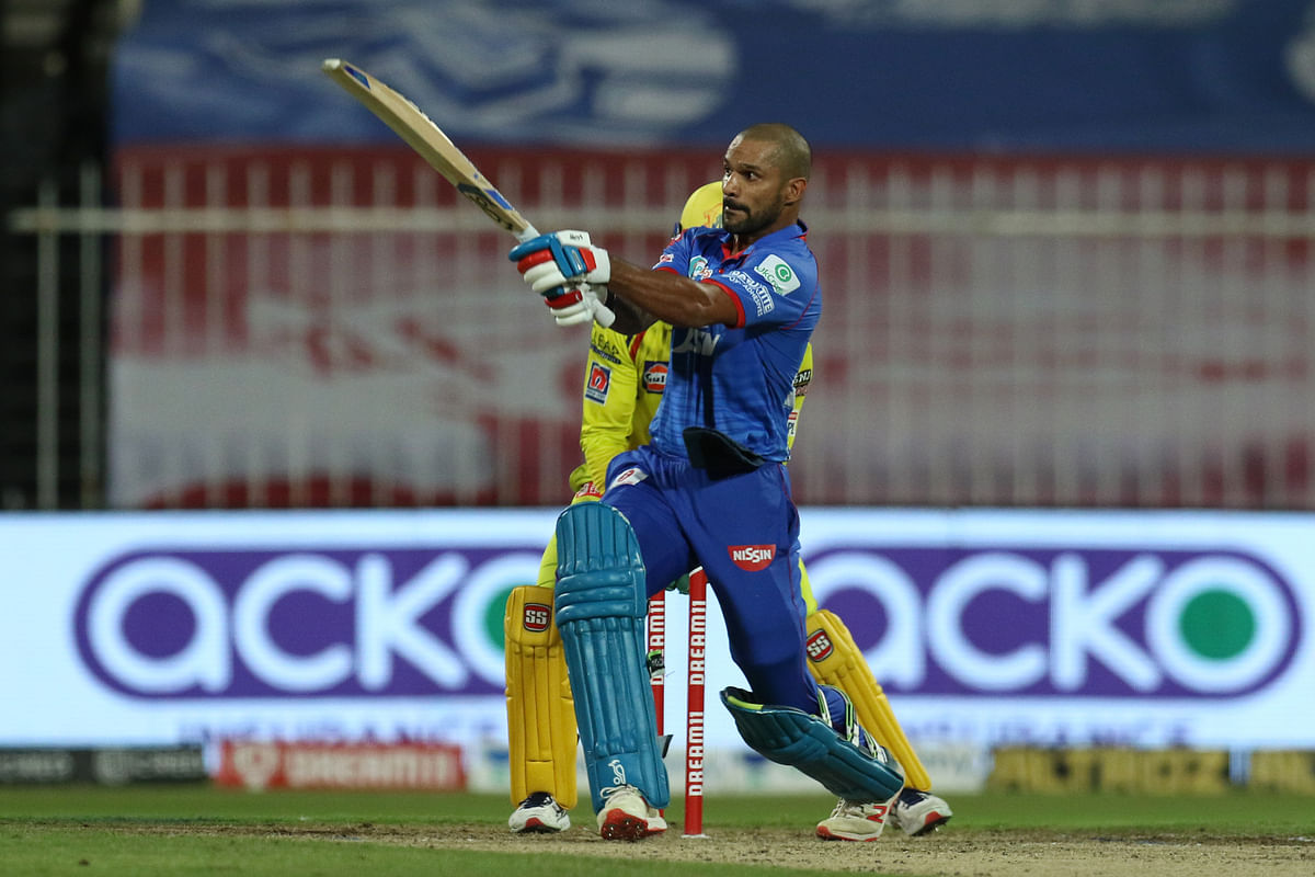 Dhawan, who was dropped multiple by CSK fielders, reached the fifty-run mark off 29 deliveries.