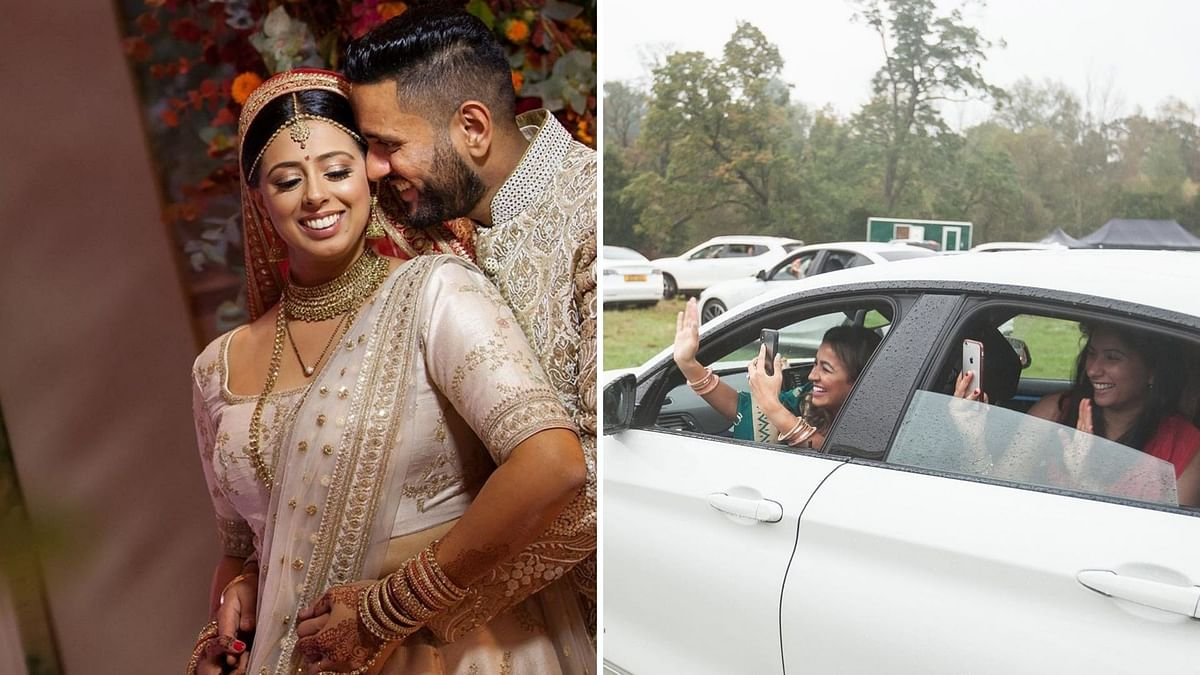 Desi Couple's Drive-in Wedding in UK Amid COVID-19