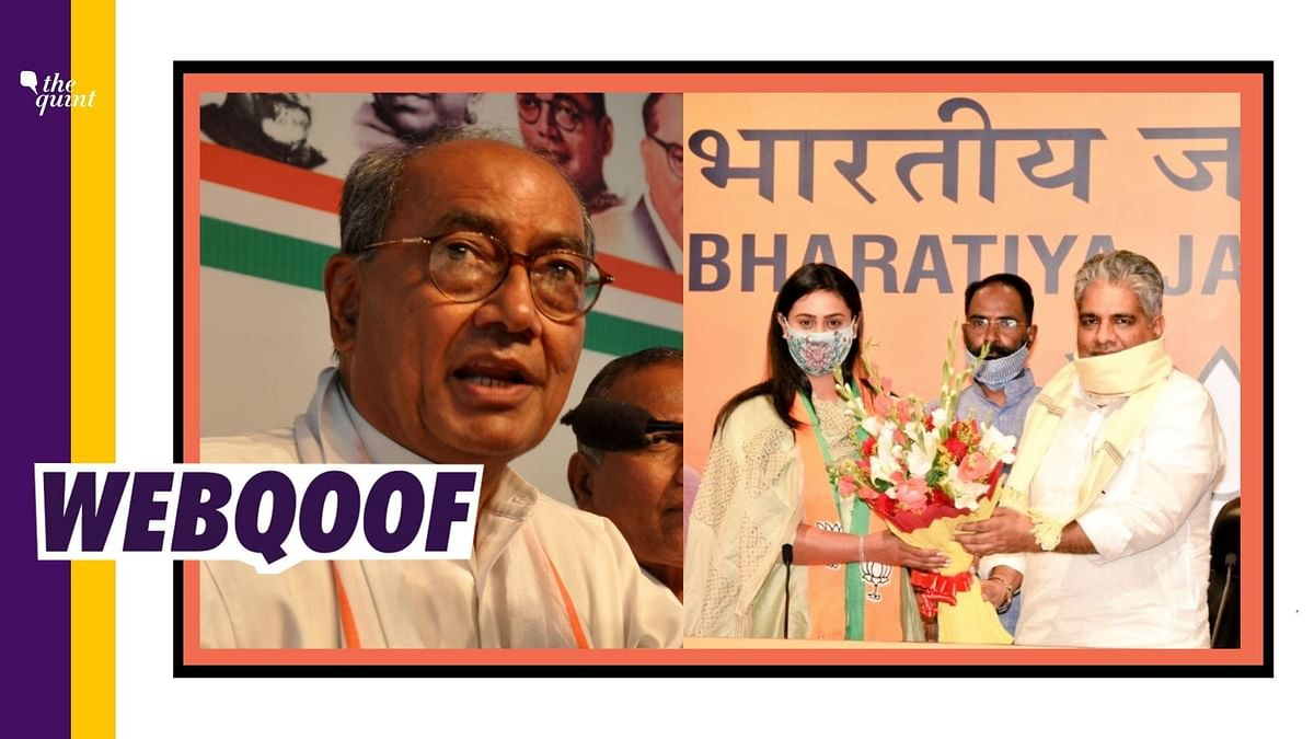 Shreyasi Singh Who Joined BJP Is Not Kin of Cong's Digvijaya Singh