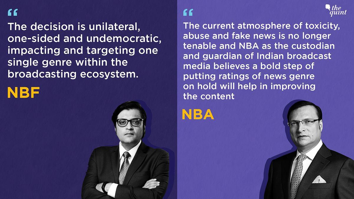 Fake TRPs: Rajat Sharma's NBA,  Arnab's NBF Face-Off Amidst Probe
