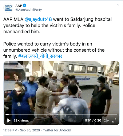 Video Shows Argument Between Police And AAP MLA, Not Rahul Gandhi