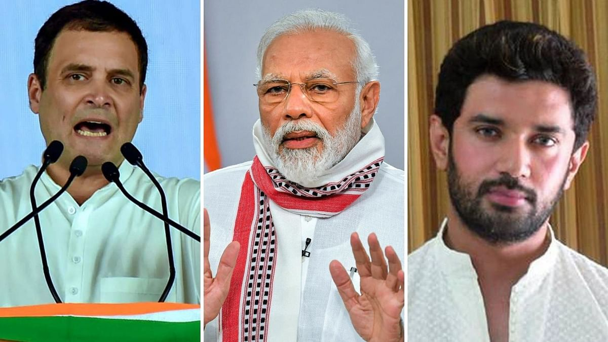 Bihar Polls: PM Modi Urges People to Vote; Rahul, Chirag in Tow