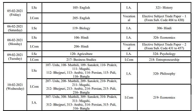 Bihar Examination Board Releases Class 10,12 Board Exam Time Table