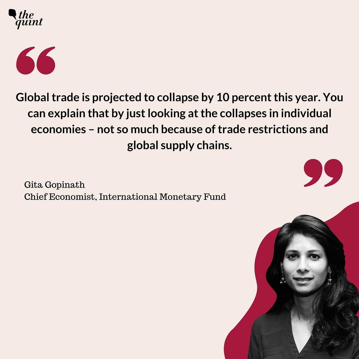Indian Economy Won't Reach 2019 Levels Before 2022: Gita Gopinath