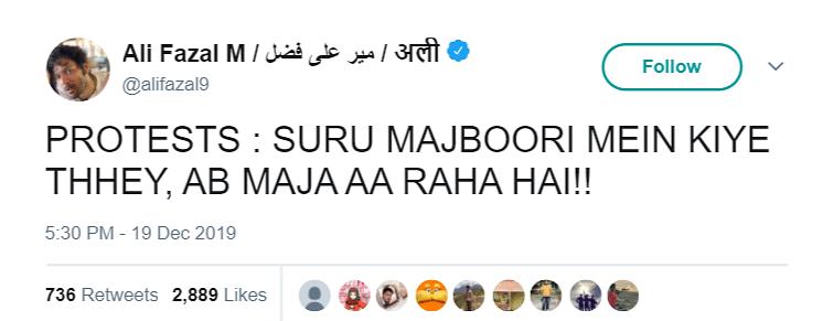 Edited Tweet of Ali Fazal Shared Amid Calls For Mirzapur 2 Boycott