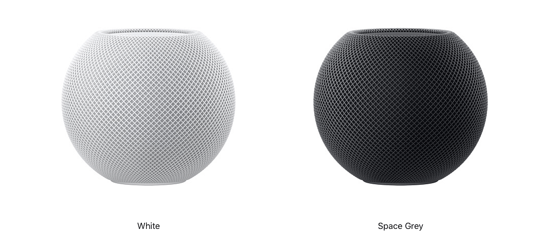 <b>Apple HomePod mini is available in Space Grey and White</b>