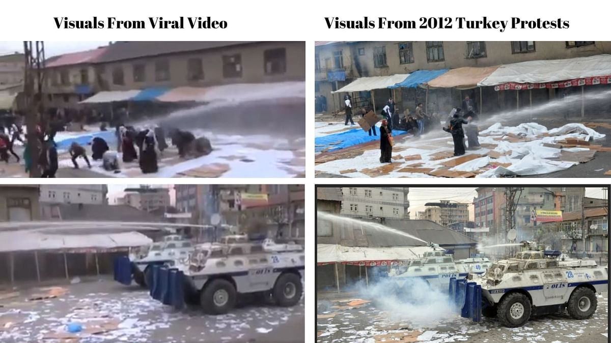 2012 Video From Turkey Shared as French Police Attacking Muslims