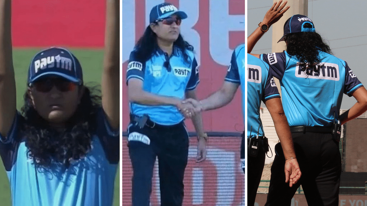 On-field Indian umpire Paschim Pathak earned many new fans due to his haircut.