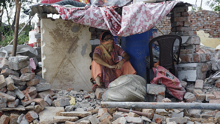 House were reduced to rubble in Khori Gaon.