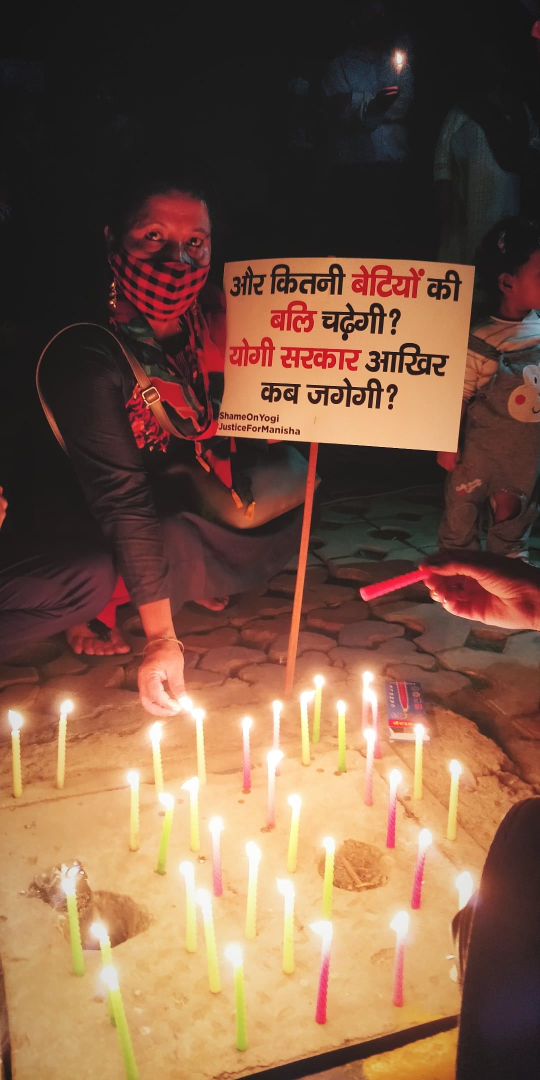 Many, including citizens and opposition leaders, came forward to stand against the brutal gang rape and murder and the subsequent administrative lapses in the case, at Jantar Mantar, in Delhi, on Friday 2 October.
