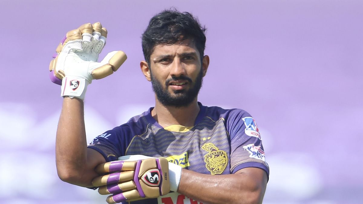 KKR batsman Rahul Tripathi has been slapped with a reprimand for breaching the IPL code of conduct