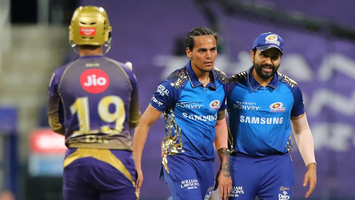 Rahul Chahar put the brakes on KKR's innings by picking up two scalps in two balls.