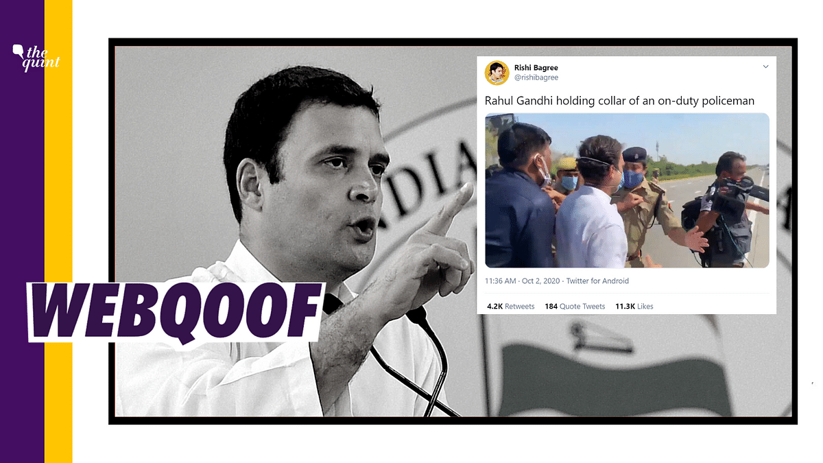 Rahul Gandhi Held Policeman's Collar? Here's The Missing Context