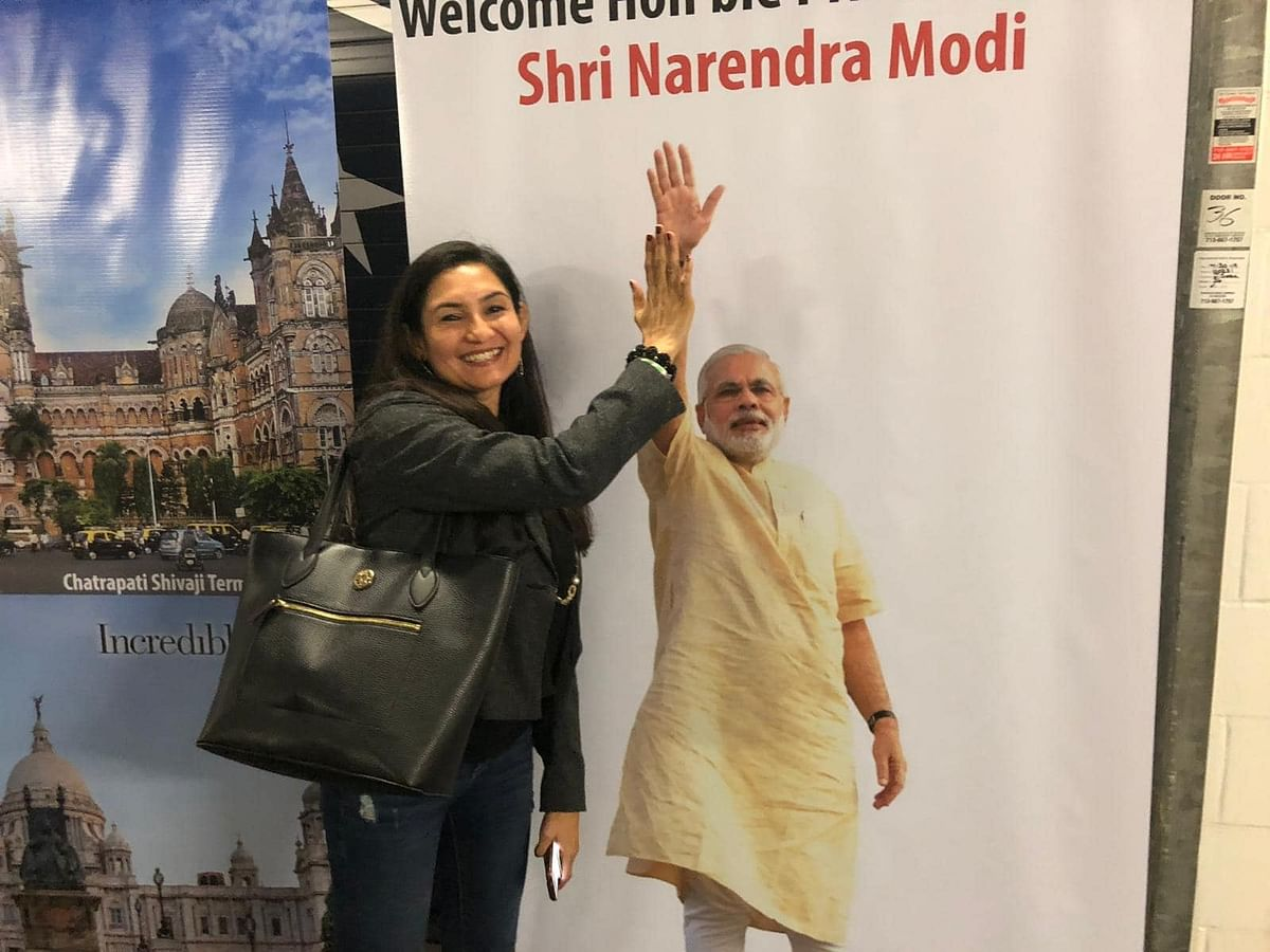 Khushboo Rawlley at the Howdy Modi event.