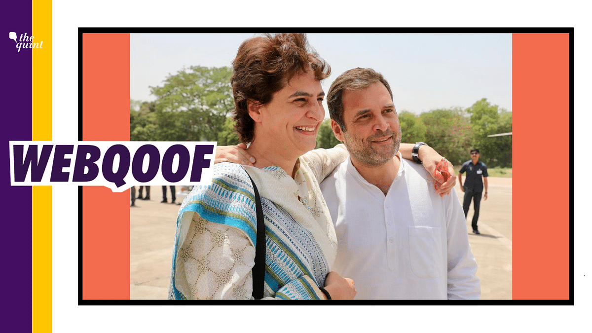 The viral image is actually from 2019, when Rahul and Priyanka Gandhi were on their campaign trail during the Lok Sabha Elections.