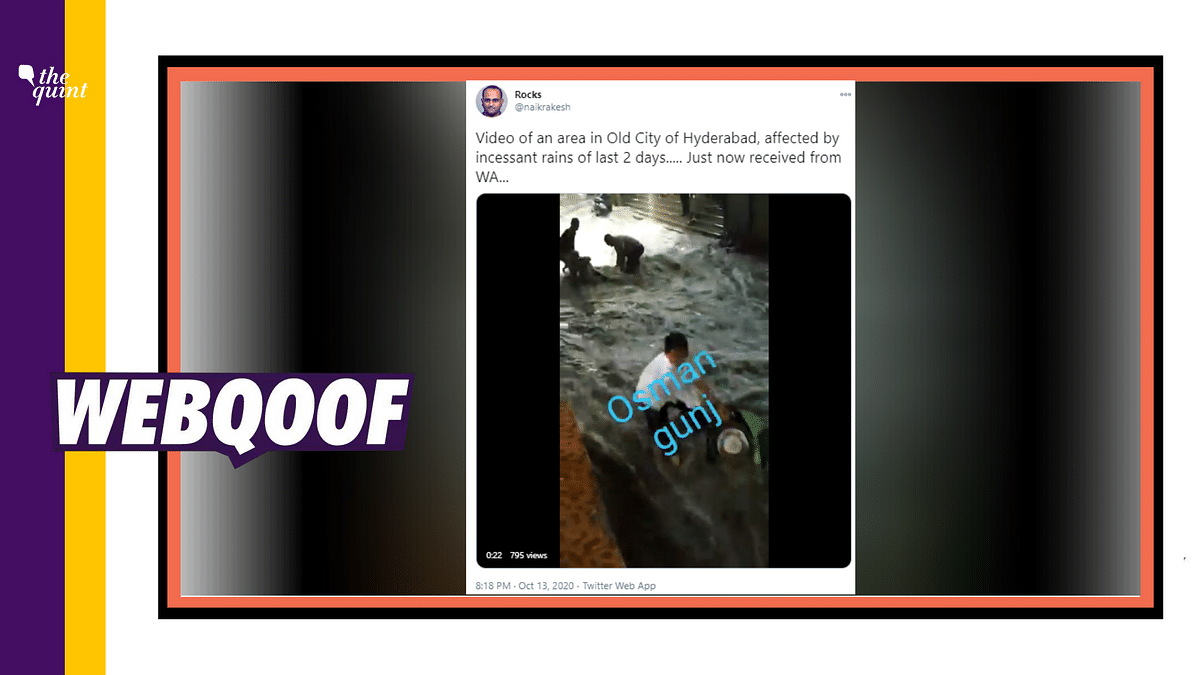 The video is actually from 2019, when several areas of the city were left flooded due to heavy rains.