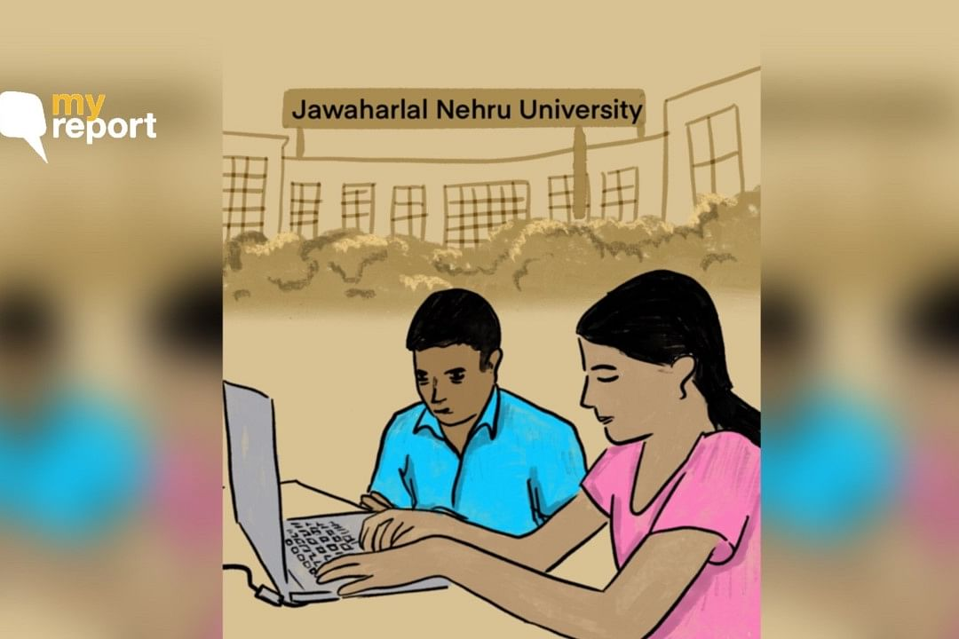 Two visually impaired students compare their experience of writing the JNU entrance exam.