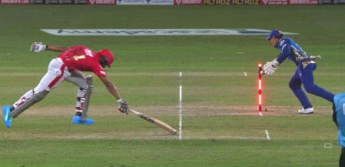 Jordan was run-out on the last ball of the main innings