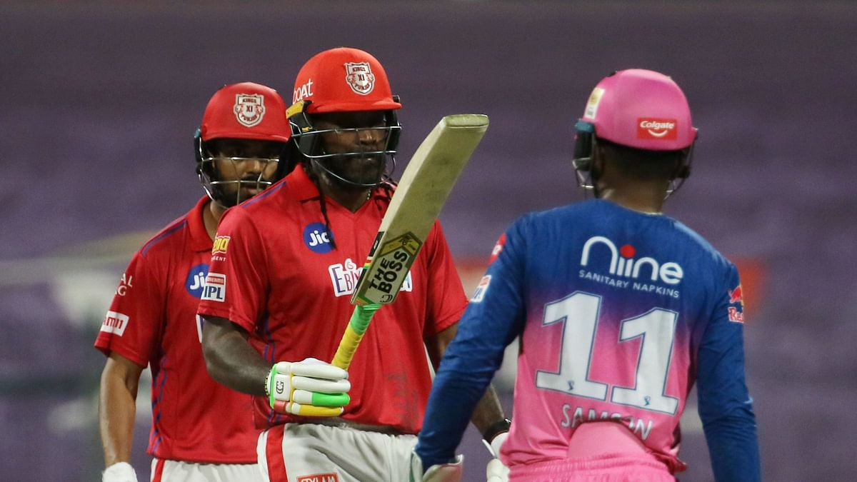 Chris Gayle Falls on 99 But Helps KXIP Post 185/4 vs Rajasthan