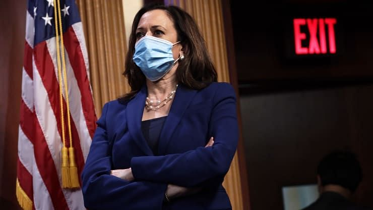 """""""I will be transparent with you about any test results I do receive"""", said Harris in a tweet after two staffers tested positive."""