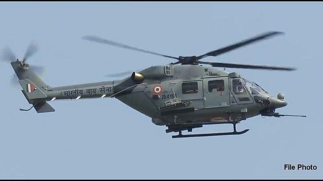 The chopper was a Dhurv Advance light helicopter.