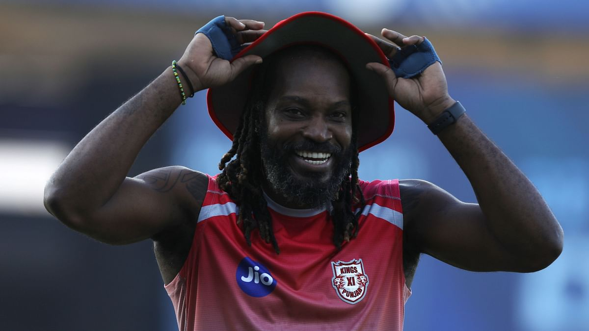 Kings XI Punjab opening batsman Chris Gayle is back on the training ground, having recovered from his stomach bug.