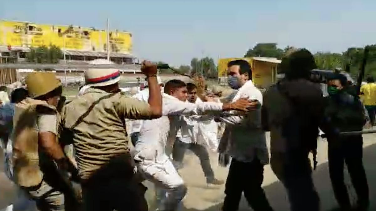 UP Cops Lathi-Charge Jayant Chaudhary, Press En Route to Hathras