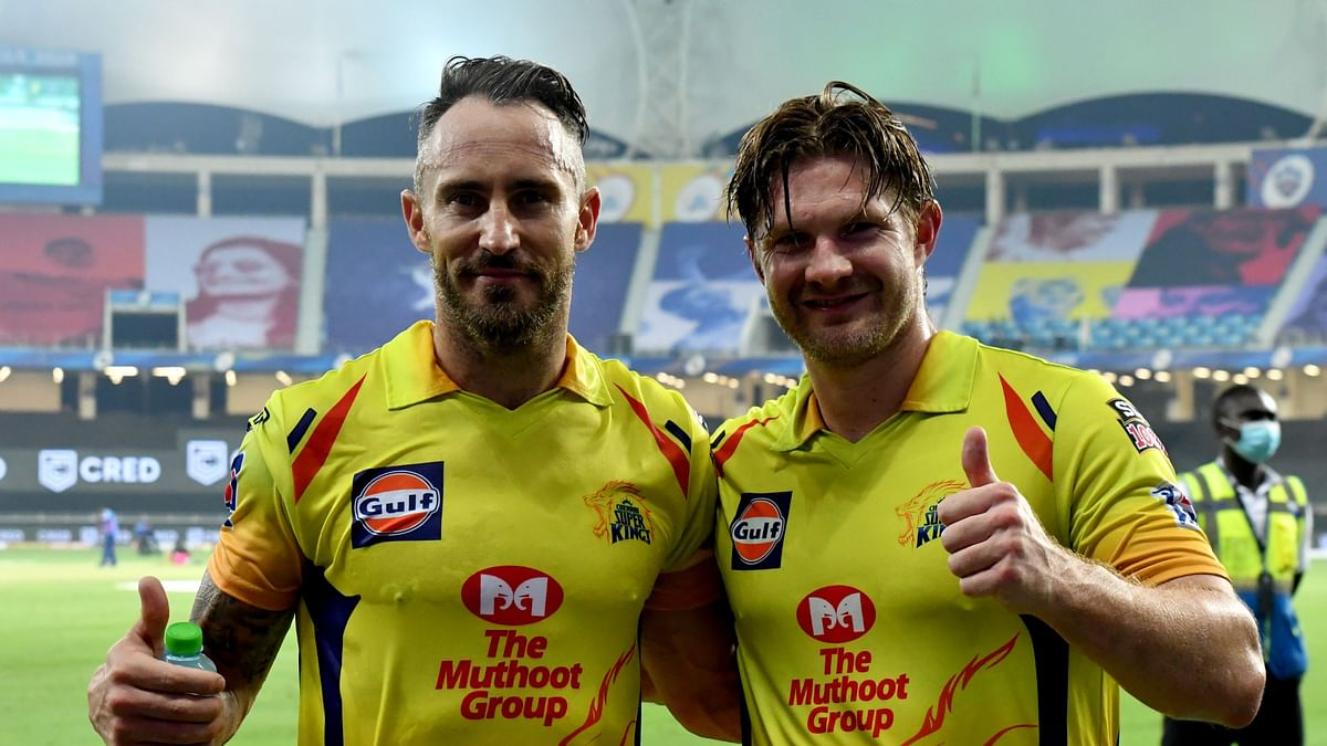 Faf and Watson had an unbeaten partnership of 181 runs and helped CSK win the match  against Punjab by 10 wickets.