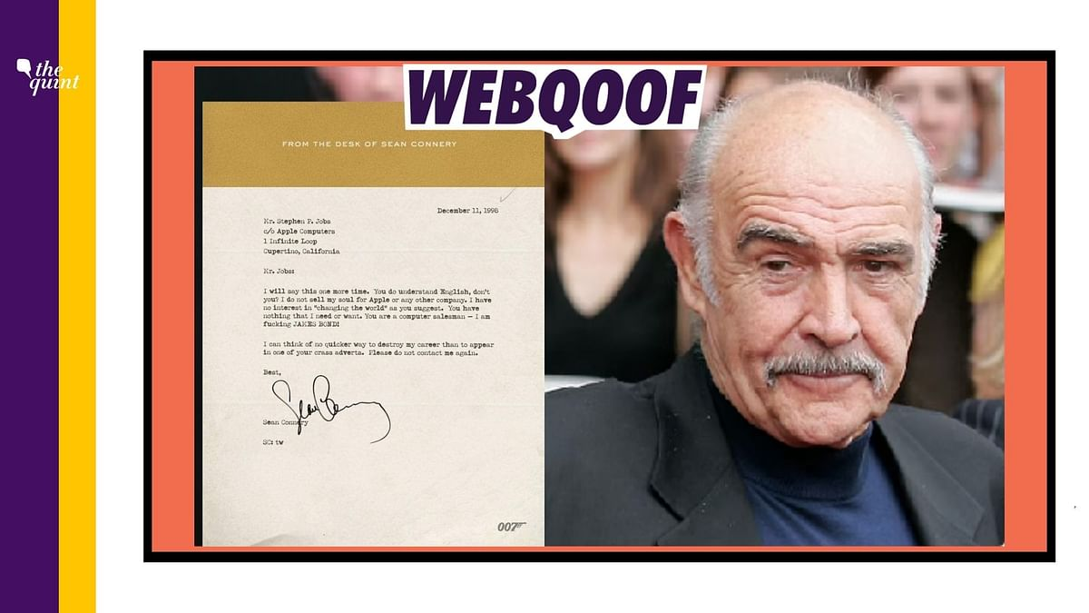 A fake letter that was doing the rounds in 2011 has been revived in the light of the Sean Connery's death.