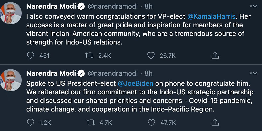 'Reiterated Commitment to Indo-US Partnership': PM Speaks to Biden