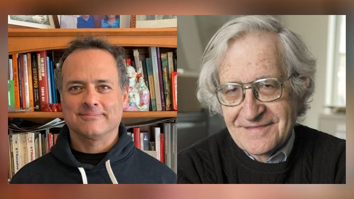 """A dialogue with Noam Chomsky and Vijay Prashad at the Mumbai (Tata) Lit Fest has been cancelled<a href=""""https://www.routledge.com/Internationalism-or-Extinction/Chomsky-Derber-Moodliar-Shannon/p/book/9780367430580"""">.</a>"""