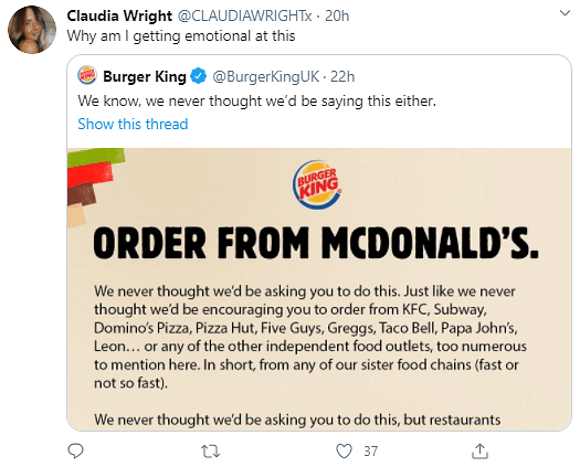 Burger King Asks Customers To 'Order From McDonald's', Here's Why