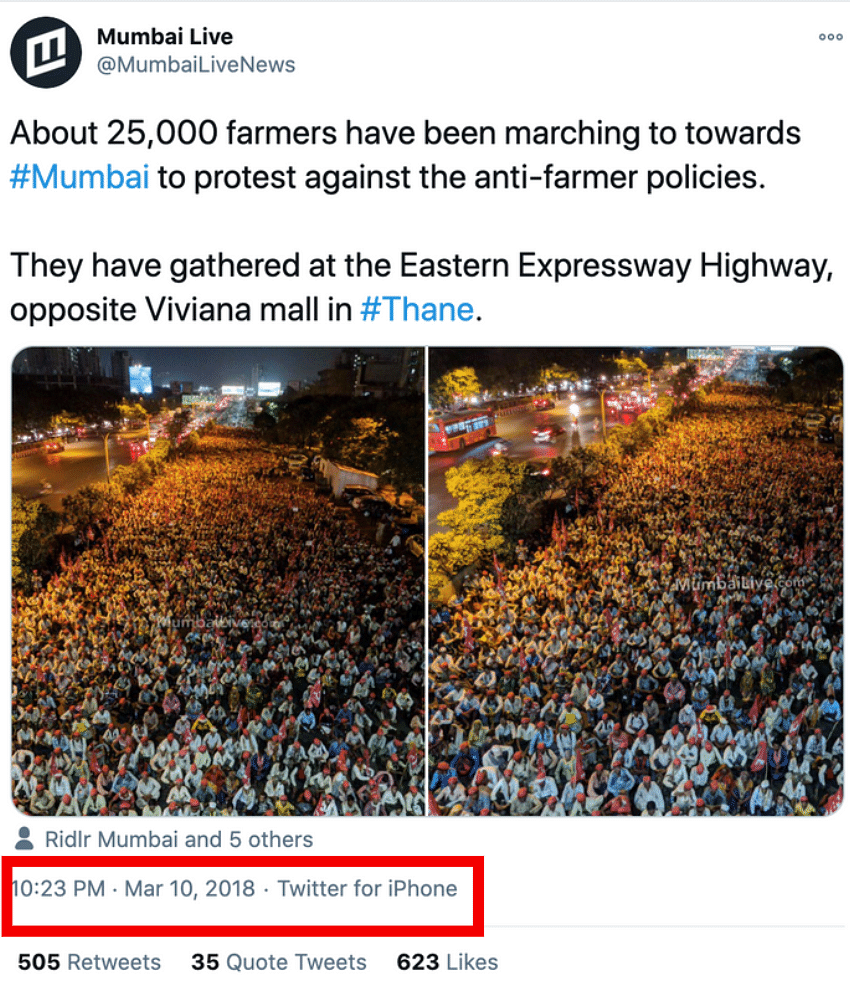 Image Taking Dig at PM is From 2018, Not Recent Farmers' Protest
