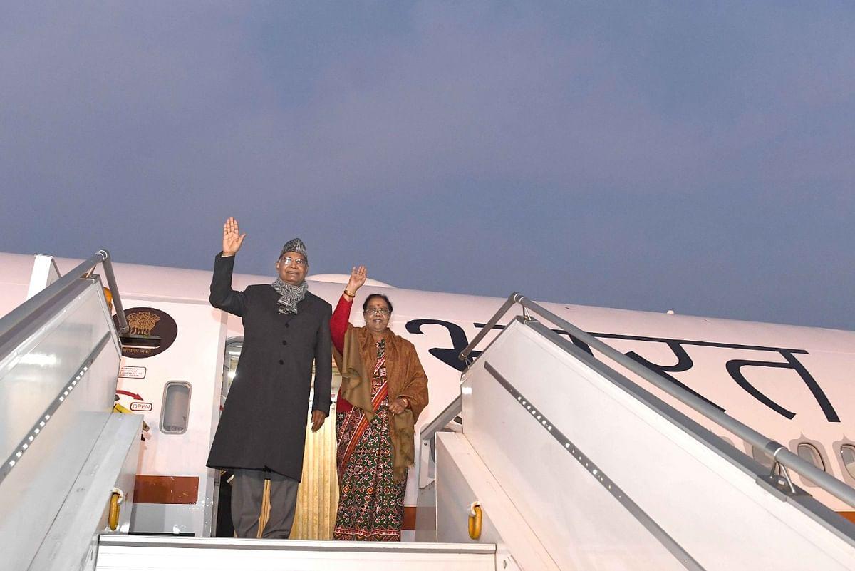 Chennai: President Kovind Boards Inaugural Air India One Aircraft