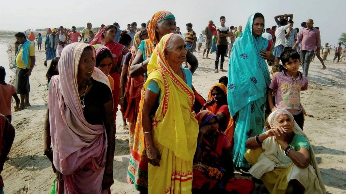 One woman died after a boat capsized in the Ganga near Bihar's Bhagalpur district