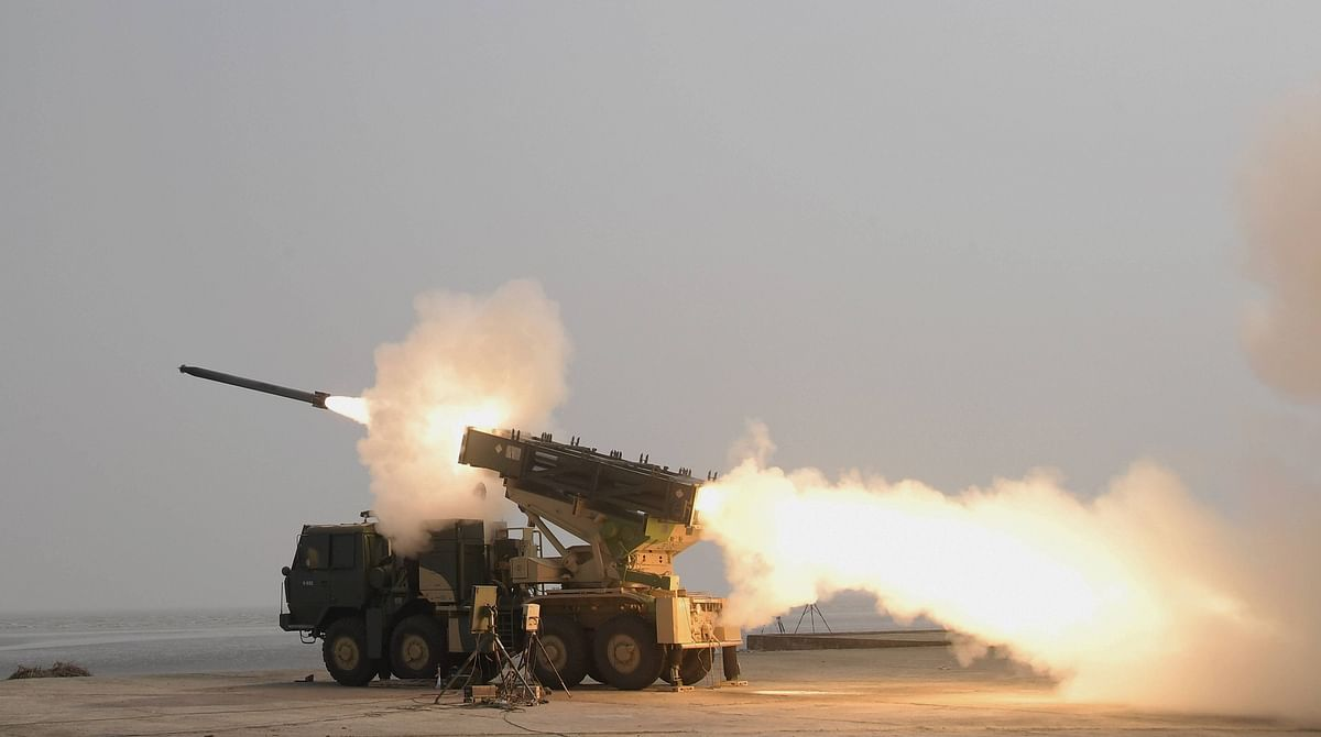 An advanced version of the DRDO-developed Pinaka rocket successfully flight tested from Integrated Test Range, Chandipur off the coast of Odisha.