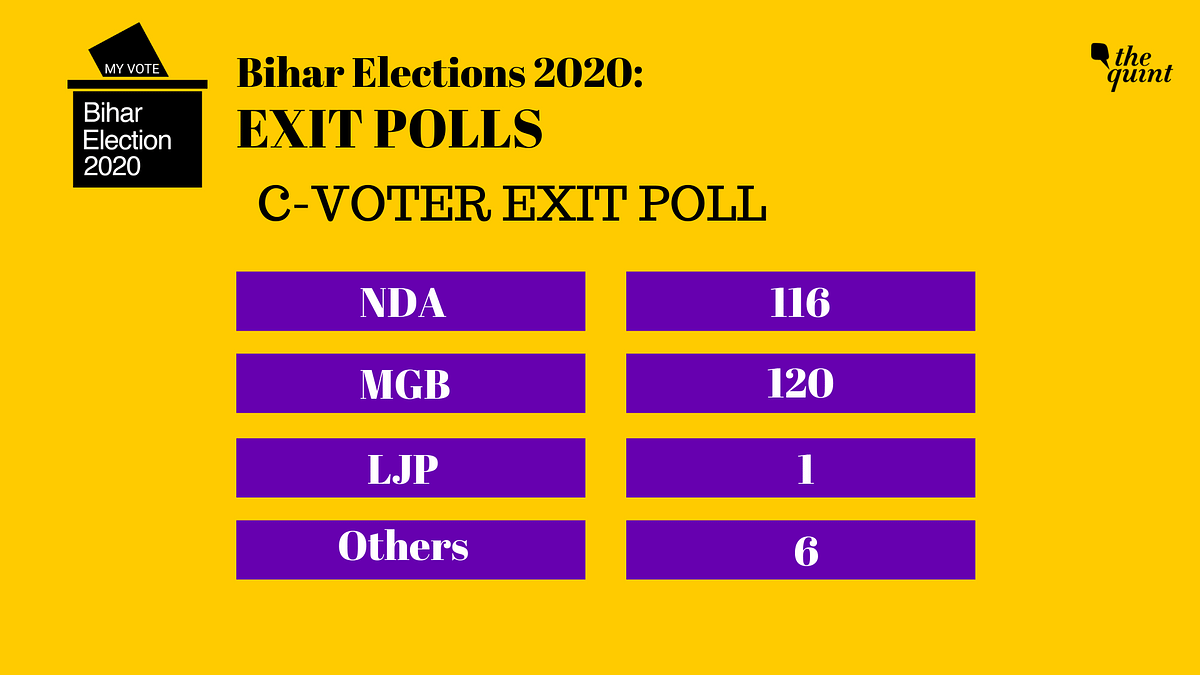 Times Now-CVoter Bihar Exit Poll:  Hung House Likely, MGB Ahead