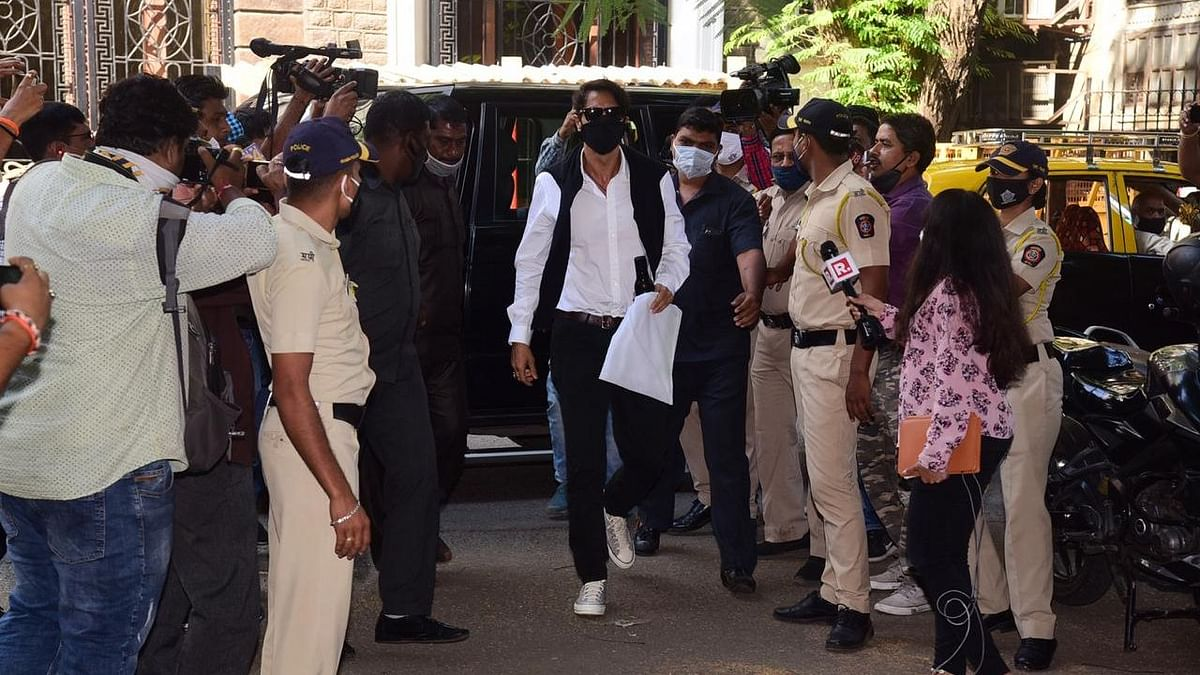 Arjun Rampal arrives at the NCB office.