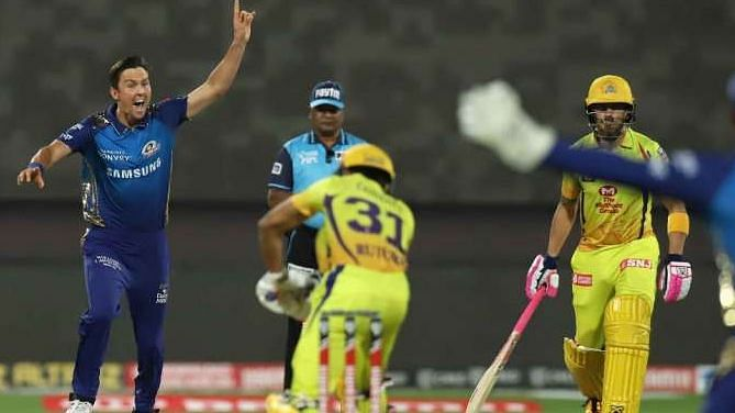 The Kiwi pacer along with Bumrah were on song, causing the Chennai Super Kings to crumble under pressure.