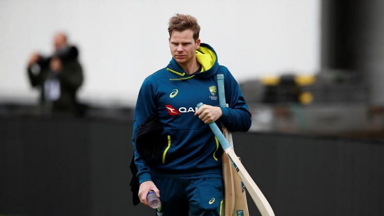 Steve Smith at a training session with the Australian cricket team.