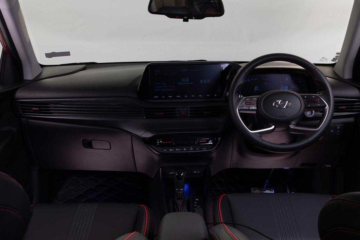 Interiors of the new Hyundai i20.