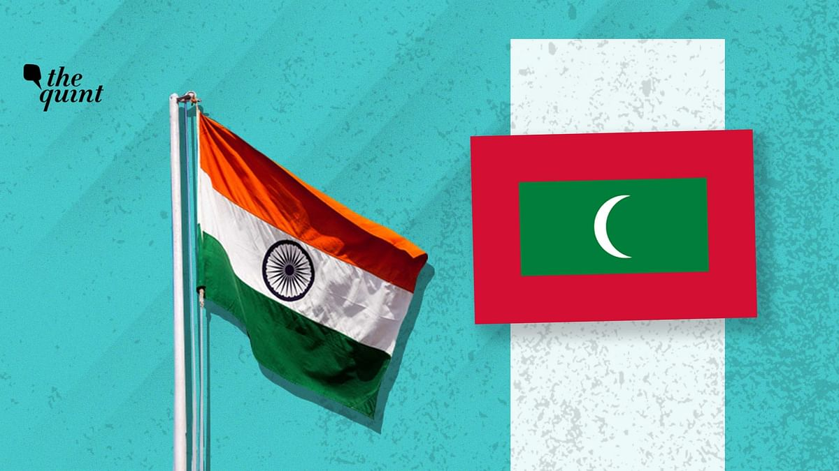 Image of Indian flag (L) and Maldives flag (R) used for representational purposes.