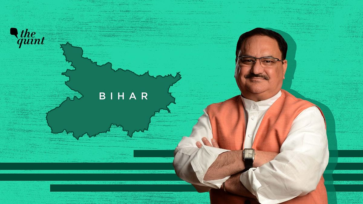 Image of BJP Chief JP Nadda and Bihar map used for representational purposes.