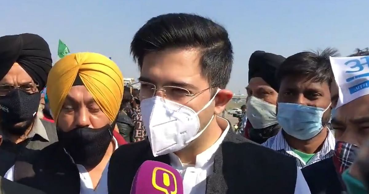 Centre Shouldn't Make Farmers Protest an Ego Issue: Raghav Chadha